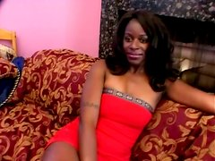 Natural Tits Makes That Ebony Look Awesome On Top Hard Cock