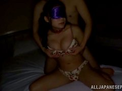 This cute Japanese chick likes to suck a cock and she really likes to swallow a load