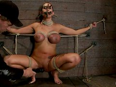 Tied Trina Michaels Gets Toyed and Tortured with Clothespins and Ropes