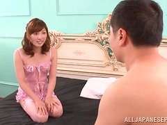 Gorgeous asian teen gets hard pounded by an older man.