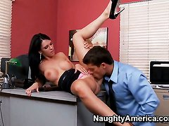 Jennifer Dark with massive boobs groans in sexual