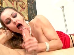 Wondrous babe with perfect ass gets her wet pussy fucked
