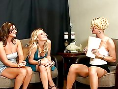Horny lesbian milfs have a threesome that'll make your day