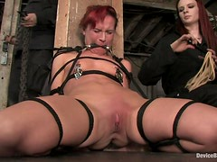 Chained Claire Adams gets her vagina tortured and toyed