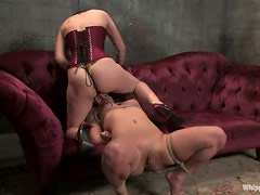 Jade Indica and Sinn Sage play BDSM games and moan in pleasure