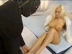 Busty blondie Stacy Silver rides dick like a cowgirl