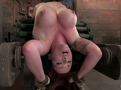 Kylie Ireland gets her snatch destroyed with a dildo in BDSM vid