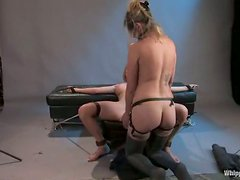 Krissy Lynn plays BDSM games with hot mistress Maitresse Madeline
