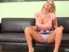 Tasha Reign striptease from tight outfit