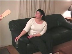 Chubby girlfriend is going to get her ass spanked