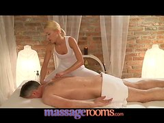 Cute Blonde Hoe Licks His Anus And Jerks His Cock After Sexy Massage