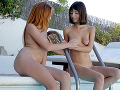 Amazing lesbian scene with Kiki and Michelle