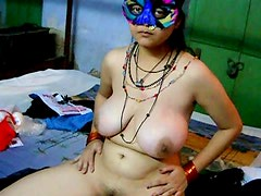Savita stretches her nice Indian pussy