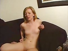 Young blonde rides the sybian and gets fucked