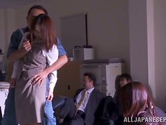 Robber Fucking Missionary With A Hot Japanese Babe In Office