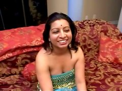 Indian Chubby Brunette Saipra In Threesome Sex Action