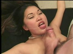 Pregnant Asian girl Mari Lee gets fucked and facialed
