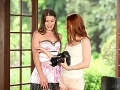 Beautiful ladies have fun in a hot lesbian scene