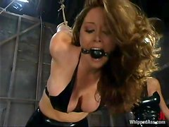 Femdom video with Shy Love getting punished by Christina Carter