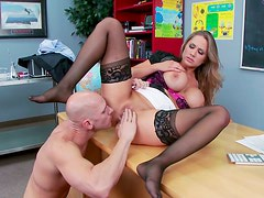 Busty Alanah Rae had an amazing sex with her partner  Johnny Sins