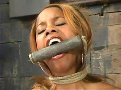 Lolana the skinny Black girl gets dominated in BDSM video
