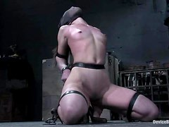 Circe Borges moans loudly while getting her snatch toyed in BDSM clip