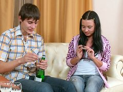 Sweet Teen Couple Get Drunk And Then Fuck Like Crazy