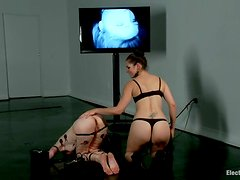Redhead Calico gets wired and fisted by Bobbi Starr