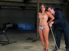 Sexy Thea Marie gets her pussy toyed in bondage video