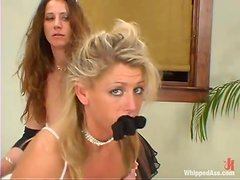 Lovely Chelsea Zinn gets punished by kinky Kym Wilde