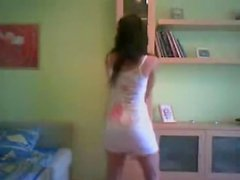 Spanish beauty dancing at home