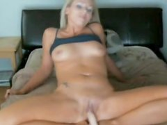 Tanya masturbating with her favourite fake sex-toy