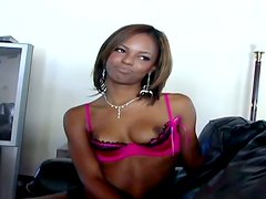 Sexy Ebony Chick With Hot Natural Tits Talking About Sex