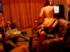 Group of amateur Russian guys get drunk and organize orgy