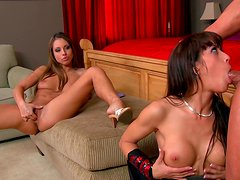 Two sexy and extremely horny chicks having fun with each other