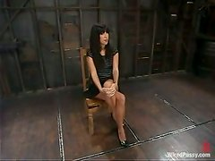 Bondage Fun and Toying Action in Lesbian Femdom Video for Roxy DeVille