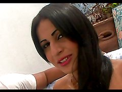Hot intense sex with the sexy tranny Bruna Butterfly