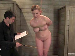 Nerine Mechanique gets her meaty pussy fucked hard in BDSM scene