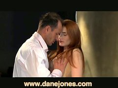 Beauty closes her eyes and gets drilled so hard