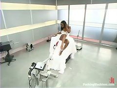 Jada Fire gets her poontang destroyed by a fucking machine