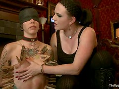 Krysta and Nerine get bound and fucked with toys in BDSM clip