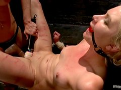Natasha Lyn gets whipped roughly and toyed by Felony