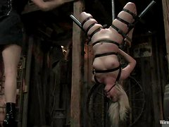 Crazy Bondage Action in Lesbian BDSM Video with Toying Fun