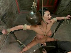Device bondage for a slutty siren Bailey Brooks