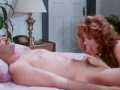 Slender curly-haired redhead and her fucker