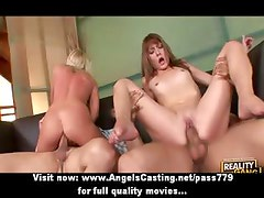 Stunning superb sexy blonde and redhead sluts getting fucked