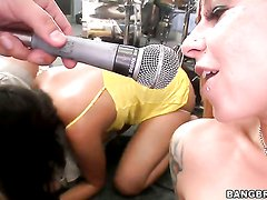 Scarlett Pain with big ass and Charley Chase