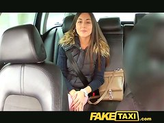 Teen is SO FUCKING BEAUTIFUL! She Bends Over and Takes it in the Taxi!