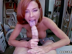 Adorable redhead milf Veronica Avluv with big tits and tight