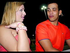 Shemale Mirela Abelha is fingered and fucked by a horny guy